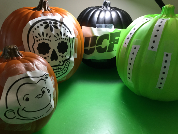 Carving & Decorating a Craft Pumpkin for Halloween OttLite Lamps