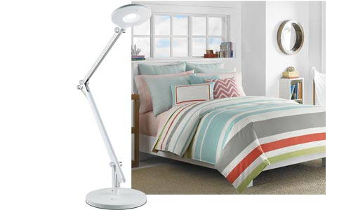 The OttLite LED Crane Lamp has some serious reach and it holds position  over your reading materials. When you're finished reading, just push it out  of the ... - Great Bedroom Reading Lamps > OttLite > OttLite Blog Helping You